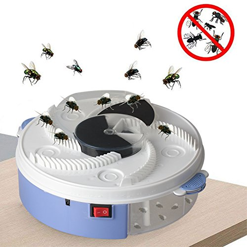 Allytech Electric Fly Trap Device, Creative Automatic Silent Fly Catcher Killer Device for Indoor Outdoor Kitchen Home (No Fly Bait)