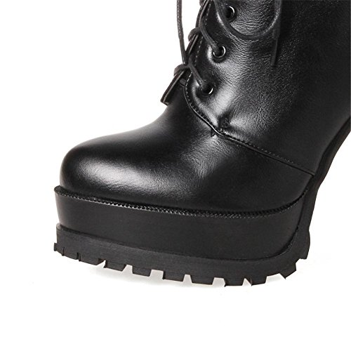 Nvxie Nero 42 Anteriore Black 8 Artificiale Stivali All'aperto Armygreen 5 Eur Donna Eur37uk455 uk Autunno Inverno Pizzo Impermeabile Piatto Tacchi Antiscivolo Alti Pu UnCfrOqSFU