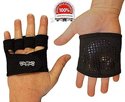 The Ninja Workout Glove, WOD, Callus Guard Workout Gloves, Weightlifting & Cross Training Workouts, Neoprene Padded Gripper or Smooth Palm, Easy On ...