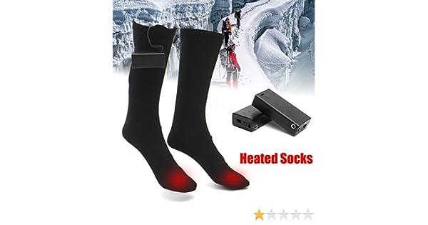 ZooArts® Calcetines de bota calefactables a pilas (1 par), negro, Medium: Amazon.es: Hogar