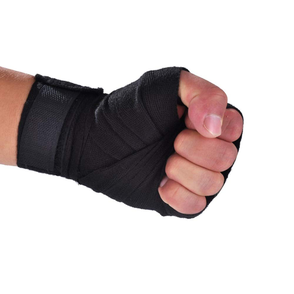 JINSHANDIANLIAO Boxing Bandage, (2.5 M) Black, The Best Gift for Fitness Lovers