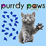 Purrdy Paws 100-Pack Soft Nail Caps For Cat Claws BLUE MEDIUM