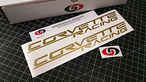 CORVETTE RACING Decal Z06 Sticker LS1 LS2 LS3 LS7 LSX SELECT COLOR (Metallic (Corvette Racing)