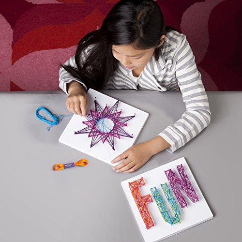 51KIQqBMWLL - Ann Williams Group Craft-tastic String Art Kit III - Craft Kit Makes 3 Large String Art Canvases