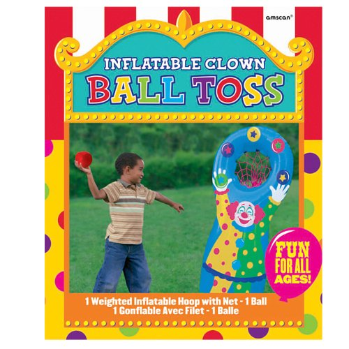 Amscan 279204 Inflatable Ball Toss Game, One Size, Multicolor (Clown Inflatable)