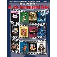 Easy Popular Movie Instrumental Solos Book & CD ( Violin )