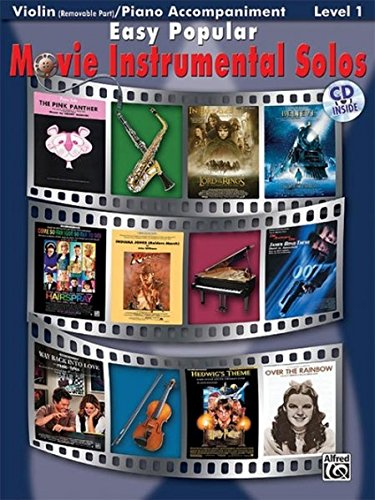 Easy Popular Movie Instrumental Solos for Strings: Violin, Book & CD (Easy Instrumental Solos Series)