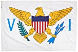Annin U.S. Virgin Islands Flag 4×6 ft. Nylon SolarGuard Nyl-Glo 100% Made in USA to Official State Design Specifications by Flagmakers. Model 146870 Review