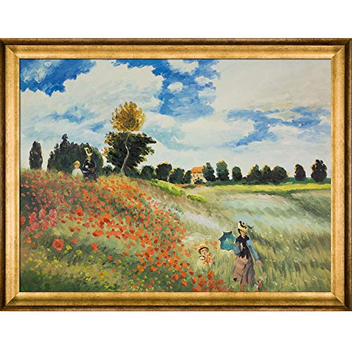 overstockArt Monet Poppy Field in Argenteuil Canvas Art, Athenian Gold ()