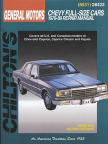 ch28422 chilton chevrolet full size cars 1979 1989 repair manual rh amazon com chevy caprice owners manual chevrolet caprice repair manual