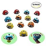 HoDrme 12 PCS Stacking Ladybug Spinning Tops Toy Kit Push and Go Toy Friction Powered Car