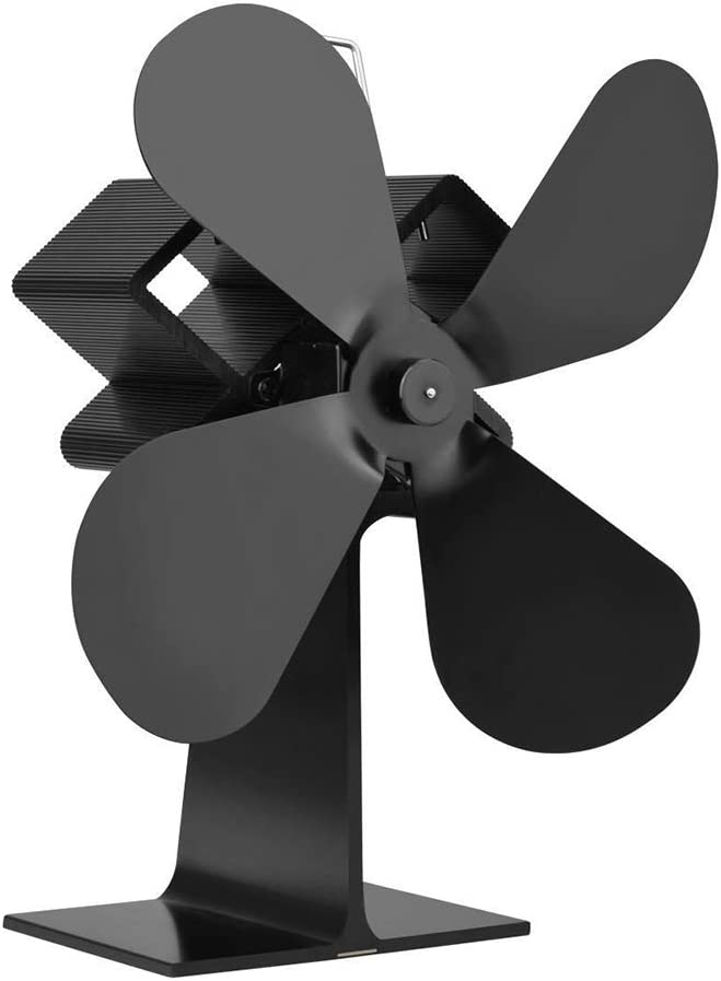 Ventiladores de Estufa Diseño de Hoja de Arce - Ventilador Ultra silencioso Operador Ahorrador de Combustible de Fuego Quemador de leña accionado por Calor Ventilador para Estufas de Gas/pellets /