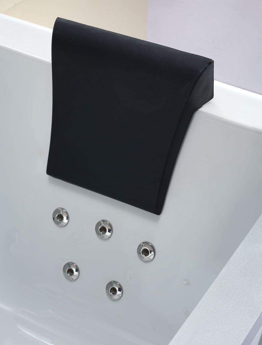 EAGO AM196ETL 6u0027 Clear Rectangular Acrylic Whirlpool Bathtub For Two, White      Amazon.com