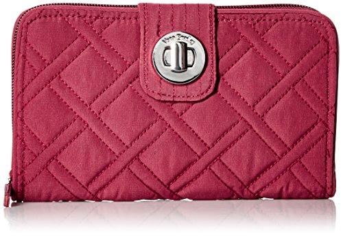 Vera Bradley Women's RFID Turnlock Wallet, Hawthorn Rose, One Size