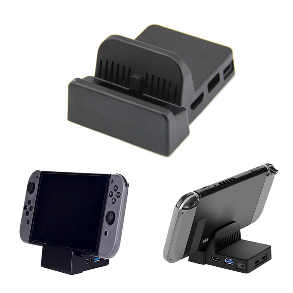 Shentesel Replacement Mini DIY Cooling Dock Stand Base Station Case for Nintendo Switch