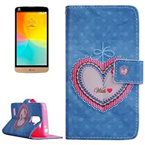 Love Pattern Horizontal Flip Leather Case with Holder & Card Slots & Wallet for LG L Prime / D337