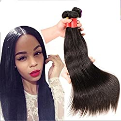 OHMY 7A Unprocessed Brazilian Virgin Straight Human Hair Weave 1 Bundle 50G/Bundle 14inch