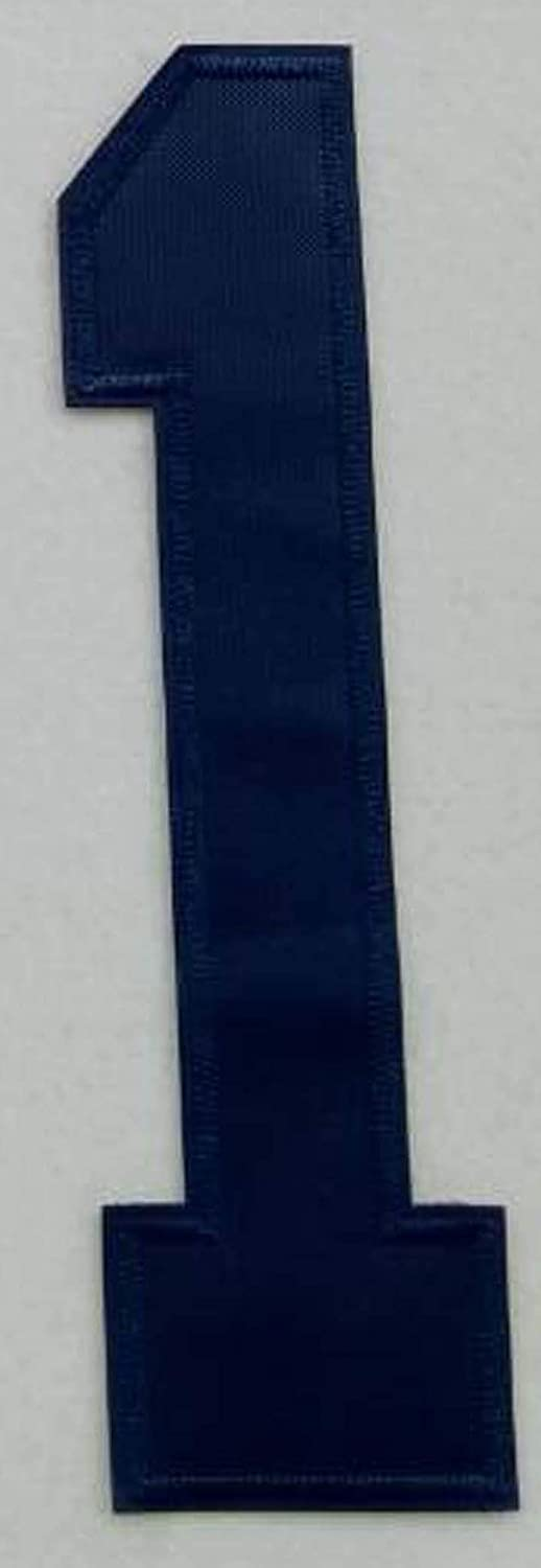 8 Dark Blue Number Patch #7 Iron On Jersey T-Shirt Jacket Jeans Embroidered
