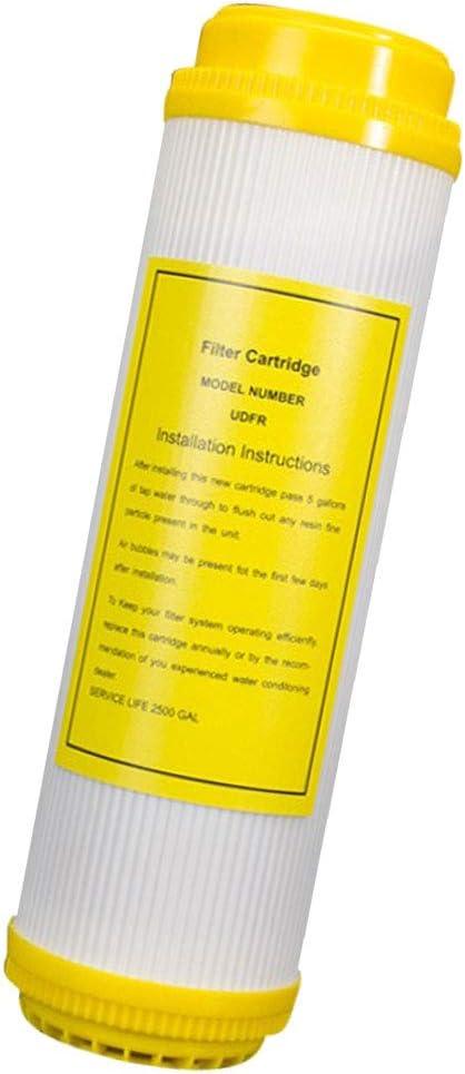 FLAMEER Filtro de Resina de Ablandamiento de Agua para Evitar Beber Agua Dura Cuerpo con Piedras: Amazon.es: Hogar