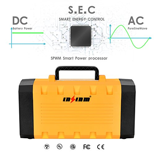 500W Portable Generator Power Inverter, LNSLNM 288Wh/90,000mAh Camping CPAP Battery Backup Home Power Source Charged by Solar Panel/Wall Outlet/Car with Dual 110V AC Outlet, 4 DC 12V Ports, USB Ports by LNSLNM (Image #2)