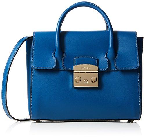 maletín Small Bolsos D Metropolis Furla Blu Satchel Pavone Mujer Azul qI5pBwp