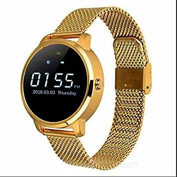 Relojes inteligente Fitness Tracker deporte actividad Relojes,Monitor de ritmo cardíaco,Alarma sedentaria,
