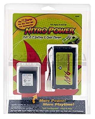 9.6 Volt NitroPower NiCd, 600mAh Battery and Charger