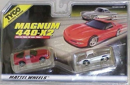 TYCO HO Scale Corvette 2 Pack Slot Car Set from Tyco