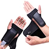 Wrist Brace Support for Arthritis Pain Sprains Stap Fitted Right Left Hand (One Pair)