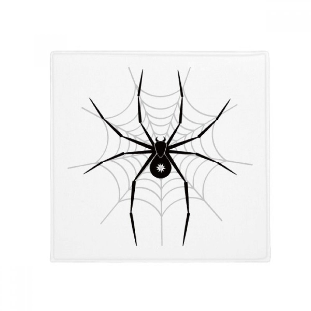 DIYthinker Insect Illustration Spider Black Pattern Anti-Slip Floor Pet Mat Square Home Kitchen Door 80Cm Gift