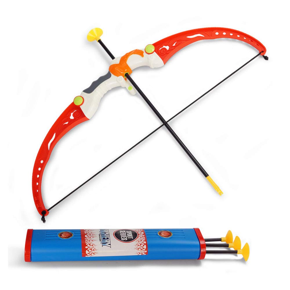 MonLiya Child Sucker Safety Bow and Arrow Toys Parent-Child Shooting Movement Simulation Indoor Outdoor Toy Set Gift