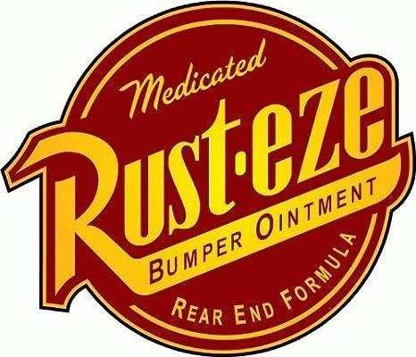 Cars Rust eze Bumper Ointment Sticker Decal Phone laptop Car Window art 20354