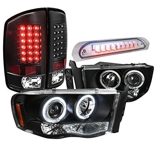 dodge ram black halo headlights - 5