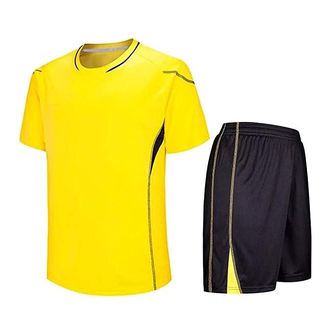 Deylaying Fútbol Camiseta & Shorts Set - Niños Adulto Soccer ...