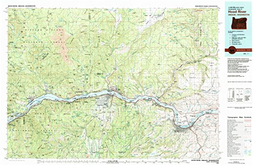 Rockford Cherry (Hood River OR topo map, 1:100000 scale, 30 X 60 Minute, Historical, 1982, updated 1983, 24.1 x 36.8 IN - Paper)