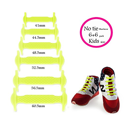 3f9284a6dbe0d0 LattoGe No Tie Silicone Shoelaces Lace Lock Bands for Kids