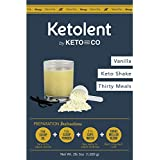 Sated Keto Meal Shake Vanilla (Ketolent) | 30 Meal Kit | 1.3g Net Carbs | Low Carb Meal Replacement Shake | Optimized for Complete Nutrition