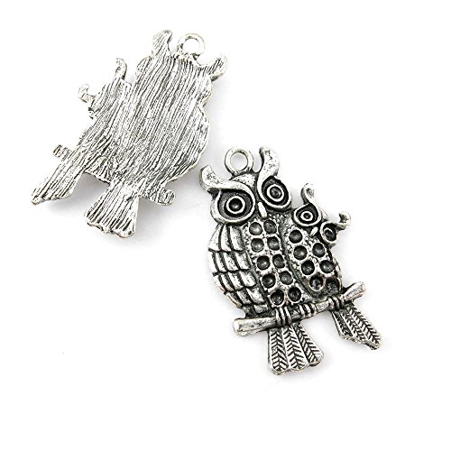 Price per 90 Pieces Jewelry Making Charms 00986 Eagle Parent and Child Pendant Ancient Silver Findings Accessoires Craft