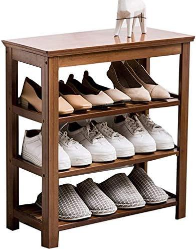 Meuble à Chaussures en Bambou Naturel de 9 étages avec