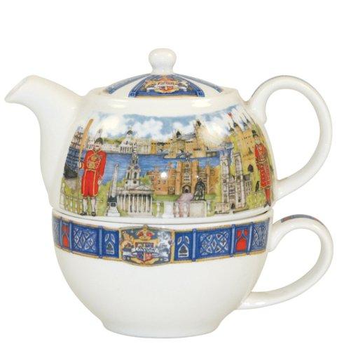 Churchill China James Sadler - Juego de tetera y taza de té, diseño del Támesis: Amazon.es: Hogar