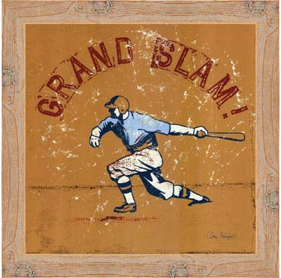 - Poster Palooza Framed Grand Slam- 12x12 Inches - Art Print (Natural Knotty Frame)