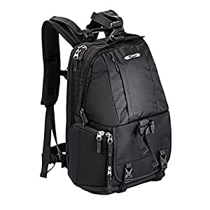"""Large Professional Camera Laptop Backpack SLR DSLR Camera Bag for Hiking Traveling with 15""""Laptop Ipad Lens Tripod for Canon Nikon Sony Olympus Camera Men and Women(Black)"""