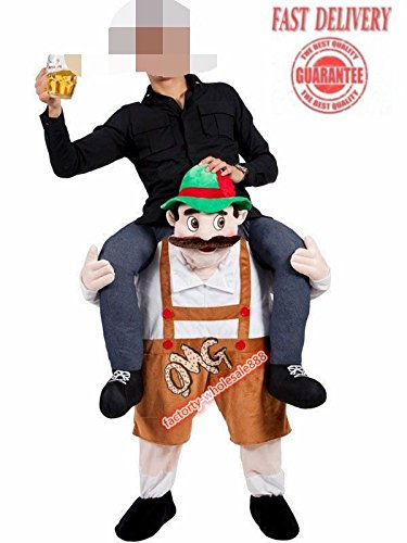 Bavarian Beer Guy Carry Me Costume Ride On Piggy Back Mascot Oktoberfest Adults