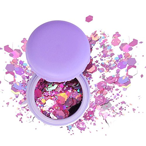 Youcoco Face Body Hair Nail Glitter Sequins Powder Party Beauty Makeup Cosmetics Body Glitter by Youcoco