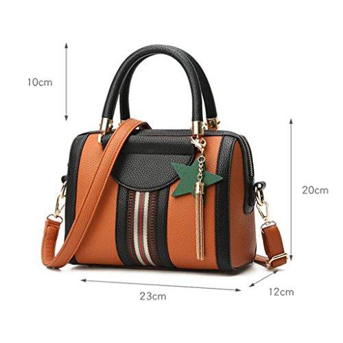 Messenger Donna E Borsa Liu dimensioni Cm Stati A Red Uniti 12 23 Mano Tracolla Moda 20 Femminile Morbida Europa Brown colore Selvaggia O0wX0