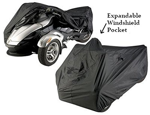 Can-Am Spyder RS, Spyder F3, F3-S Sports Waterproof Full Cover - Expandable Pouch for Larger Windshield