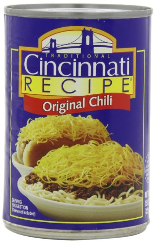 Cincinnati Recipe Chili with Meat, 15-Ounce (Pack of 6)