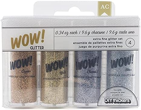American Crafts 27380 4-Pack WOW Extra Fine Glitter, Everyday 1 Inc.