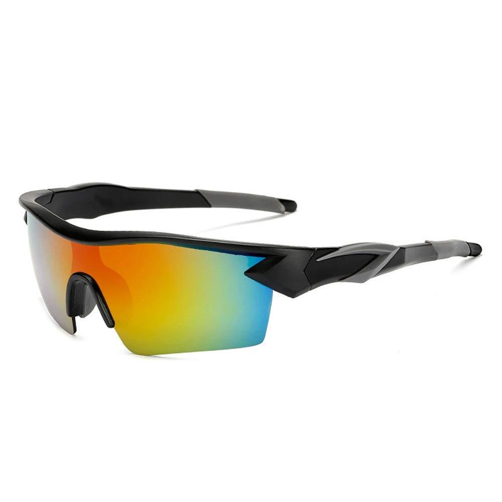 Gafas de Bicicleta Gafas de Sol Reflectantes Masculinas para Exteriores Bicicleta Deportes al Aire Libre Gafas de Sol para Hombres y Mujeres Gafas Protectoras (Color : Negro, tamaño : Free Size)