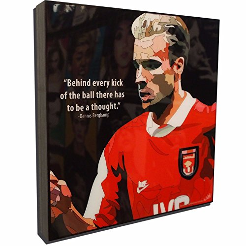 Dennis Bergkamp Arsenal Football Soccer Poster POP ART canvas Quotes wall decals framed